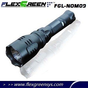 Military long distance green q5 led rechargeable hunting flashlight