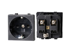 German Schuko Euro Module electric socket 16A 250V AC power outlet with VDE Certification 45*45 mm outlet