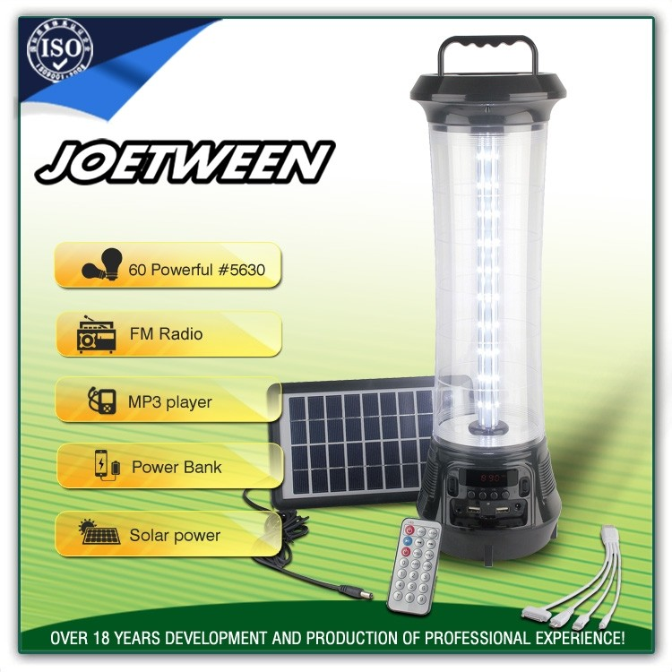 Best led dc 12V rechargeable led solar camping lantern emergency Outdoor light supplier