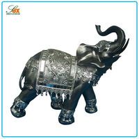 Promotional Resin Imitation Stone Statue / Polyresin Indian Elephant Figurines / Rensin Animal Figurines in Home Decorations