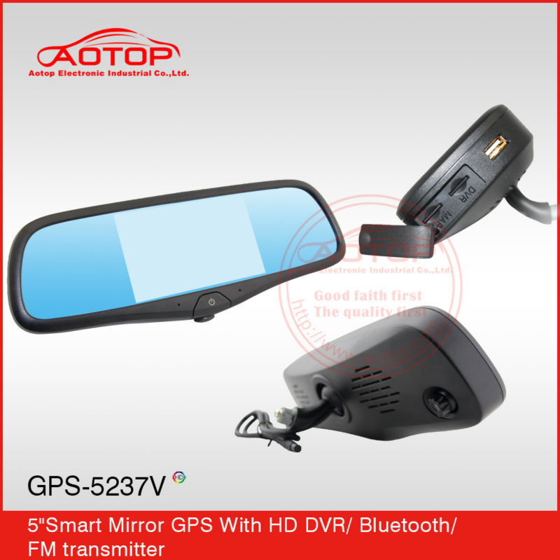 multi-function car rearview mirror with dvr, bluetooth, gps, fm transmitter for toyota corolla