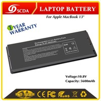 Factory high quality Li-polymer 10.8V Replacement laptop battery for Apple MacBook A1185, MA561, MA566