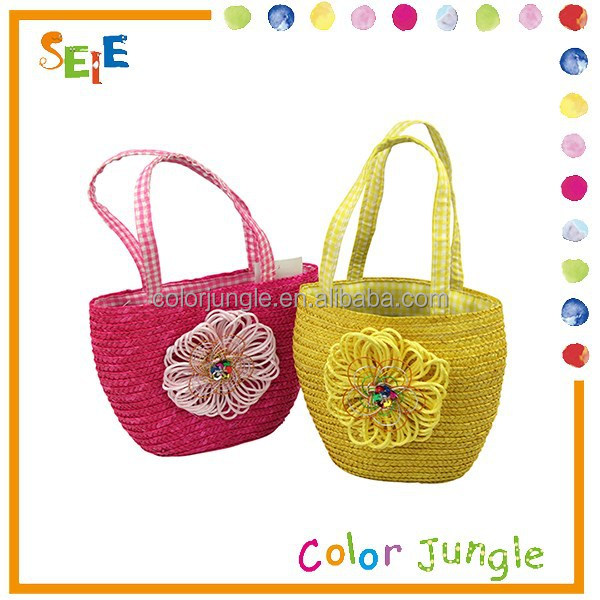 High quality straw beach ball,two color choose natural straw bag