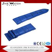 Fashionable products light blue bamboo grain 22mm leather cuff watch band for watch