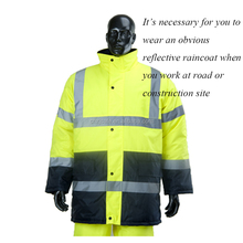 Fashion Poncho Style High Visibility Safety Raincoat with Pants