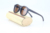 vintage polarized lens color change frame bamboo floating round sunglasses