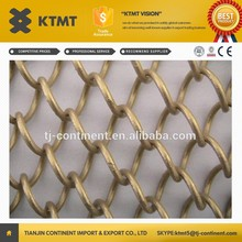 hot sale! double metal mesh curtain/decorative wire mesh/metal coil curtains for screens&room dividers from china supplier KTMT