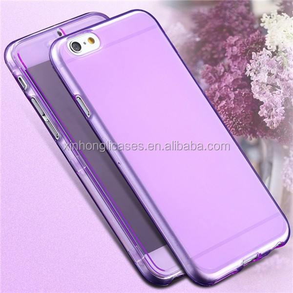 "2017 Hot Sell Slim Clear Flip Case for Apple iphone 6 Plus 5.5"" Crystal Soft TPU Silicon Phone Case"
