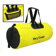 500D pvc tarpaulin yellow cylinder duffle bag travel bag 20L,45L,60L