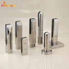 Frameless clear tempered glass stairs spigot railings with stainless steel