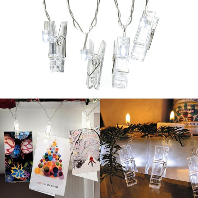Creative Design Clip String Light Holiday Lighting LED Card Photo Wall Clip Fairy