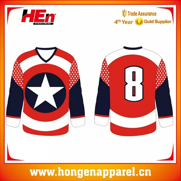 Dye Sublimated Reversible Ice Hockey Jersey, Hot Design Ice Hockey Uniform For Sports Uniforms