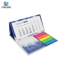 New Design 4C Offset Printing Desktop Calendar With Sticker