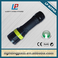 led Micro revolving focus rubber flashlight mini torch flesh light