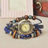 eiffel watch,semi precious stone bracelet, bracelet watch with charms (SWTWC014)