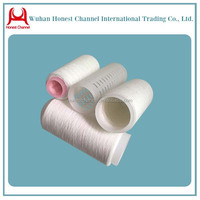 wuhan Honest Channel polyester yarn good sell to dubai wholesale market/Ring spuan and Raw white polyester yarn