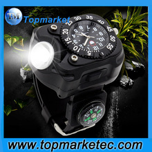 tactical flashlight USB Rechargeable watch with flashlight