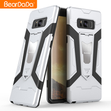 2017 wholesale Shockproof kickstand s8 phone case Stand armor 2 in 1 phone case for Samsung galaxy S8 plus