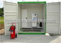 Skid mounted 20,000 -30,000 liters mobile fuel storage tank container station