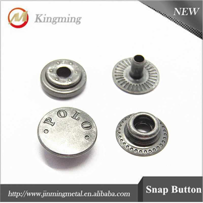 Engrave Logo Metal Copper Snap Button For Garment