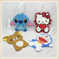 New Arrival Cartoon 2d Rubber luggage tag in bag parts & accessories 2014