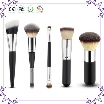 synthetic hair 5pcs professional makeup brushes set blush powder brush