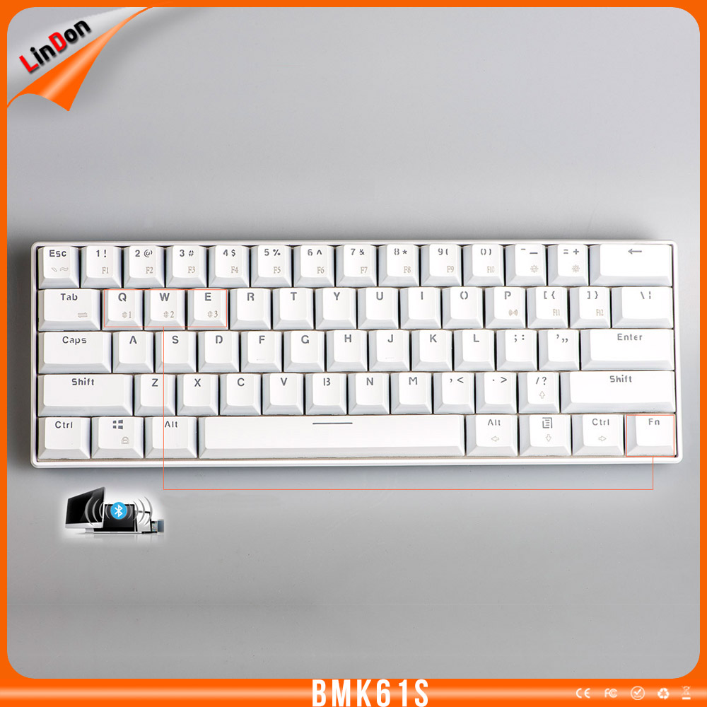 Backlight Mini Size Mechanical Gaming Keyboard With Bluetooth and USB Wired Interface