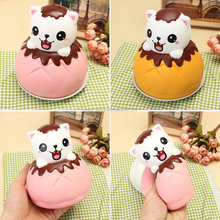 Squishy Jumbo Puff Cat Kitten Slow Rising Original Packaging Soft Collection Gift Decor Toy