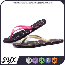 Foam Plastic Beach Flip Eva Lady Slipper Shoe Design Non Woven