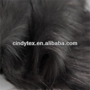 70mm grey long plushed soft acrylic polyester imitation wolf fake fur fabric