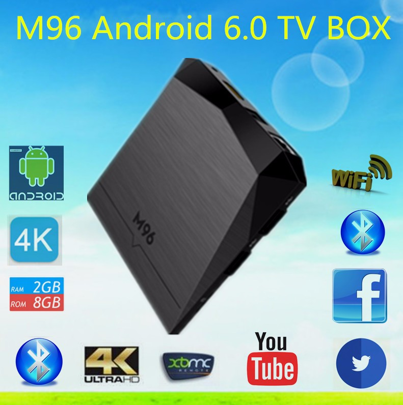 New Model M96 Google TV Box Amlogic S905X Bluetooth 4.0 Gigabit Android 6.0 SET TOP TV box