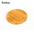 Wireless Charging Pad Bamboo Qi Wireless Charger For Mobile phone