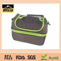 lunch food fresh-keeping cooler bag made of 600D Oxford cloth with PU coating