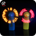 Wedding Gift Glow In The Dark Custom Led Lighted Message Souvenir Hand Fan