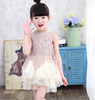 The new model summer princess children lace dress patterns kids frock designs baby girls party dresses 2-7years old