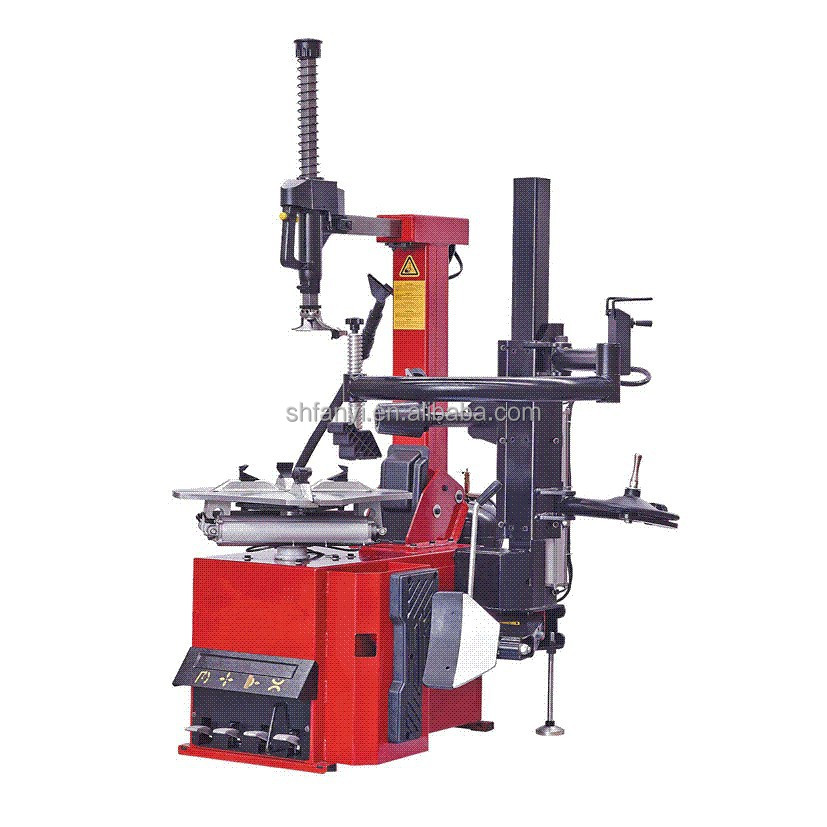 Professional automatic tyre changer with tilting back post The complete bead breaker cylinder made of steel iron, more durable