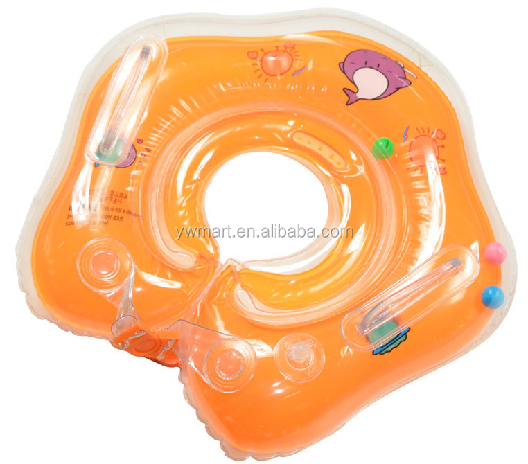 Wholesale ECO-Friendly PVC Inflatable Swim Ring Baby Float Baby Neck Float