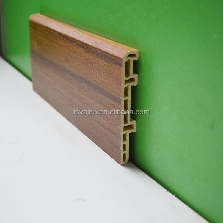 100mm Different types of WPC skirting board vinyl floor edge trim