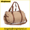 6520 Khaki Stylish Casual Travel Canvas Journey Bag Shoulder Bag for Men