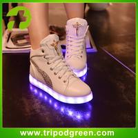 2015 New Fashion USB Charging Lights led boots Lovely Led Shoes, glowing shoes for family Women children
