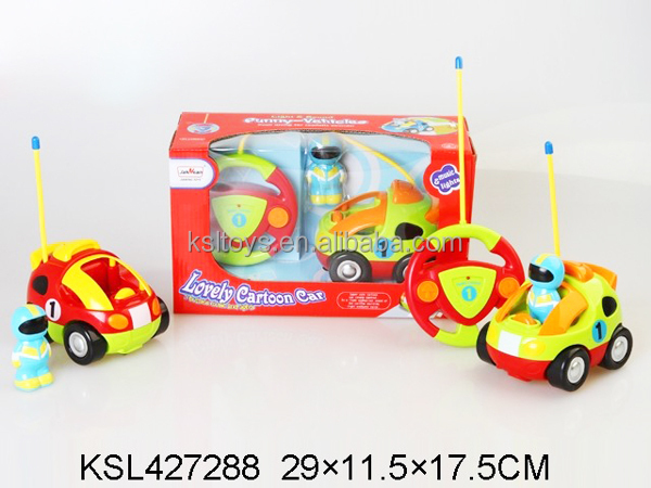 Cartoon Car R/C Race Car Radio Control Toy for Toddlers