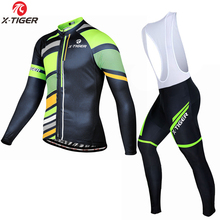 Spring Cycling Clothing/X-TIGER Brand Long Sleeve Cycling Jerseys/mtb bike <strong>sportswear</strong>/Pro Men Cycling Wear