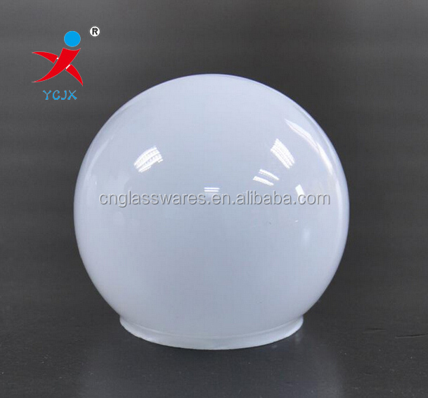 Lustrous glass ball lamp shades with cutting mouth