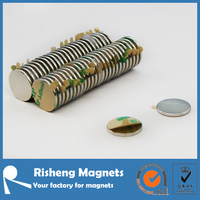 Adhesive magnet customized strong neodymium magnet with 3M467/468/950 self adhesive backing