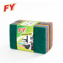 Multi-colors Heavy Duty Kitchen Cleaning Polyester Fiber Scrub Pad