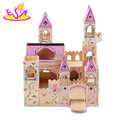 Wholesale Wooden folding medieval castle toys for kids,lovely wooden castle toy for children W06A034