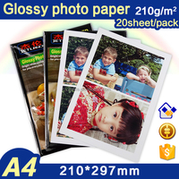 Jetland inkjet High quality glossy Photo Paper A4 210gsm 20 sheets per pack