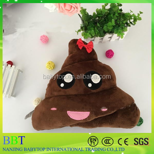Funny cushion poop emoji pillow cute bolster pink bow emoji pile of poo emoji pillow