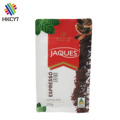 Colorful printing stand up flat bottom ziplock pouch for coffee packaging bags with valve