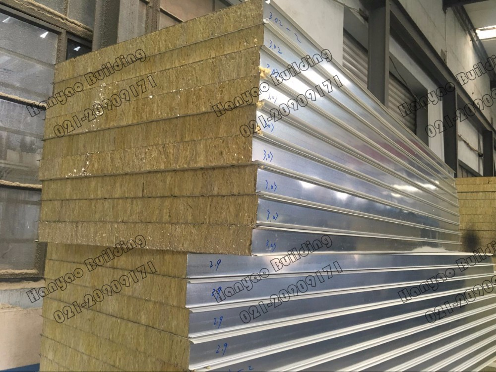 Customized Insulated Fireproof Cladding Steel Rock Wool Exterior Wall Panels Sandwich Buy